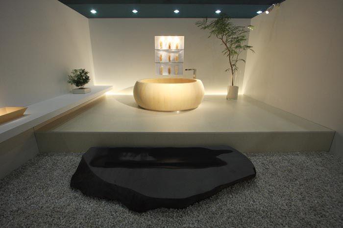 Круглая ванна от японской компании Furo