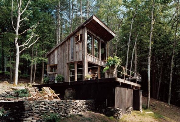 Небольшой деревянный дом в округе Салливан, Нью-Йорк