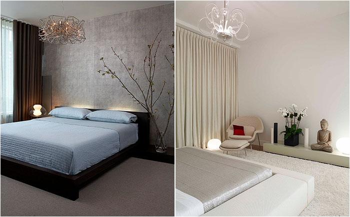 20 стильных и современных спален в стиле дзен