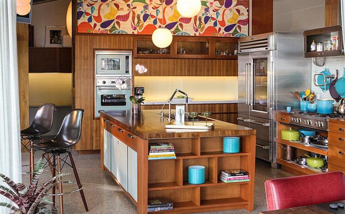 Яркие краски на кухне от Native Son Design Studio