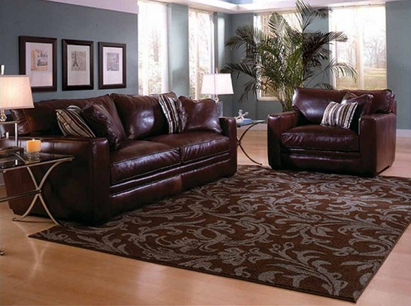 Ковёр в сочетании с мягкой мебелью
