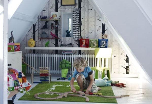 Как превратить чердак в замечательную игровую комнату