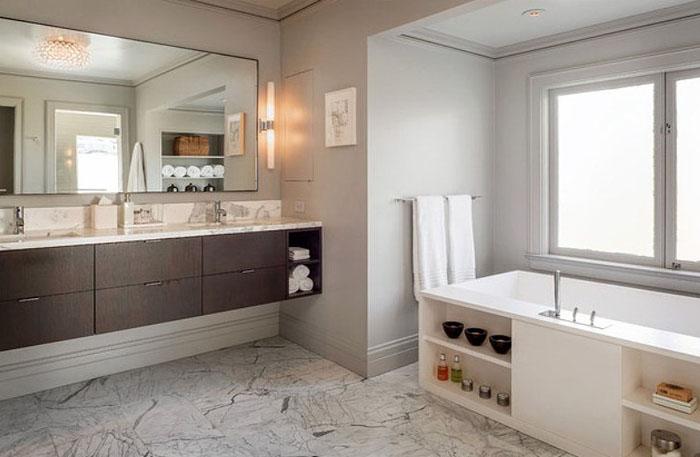 Оригинальные системы хранения под ванной