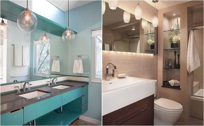 Освещение зеркала в ванной