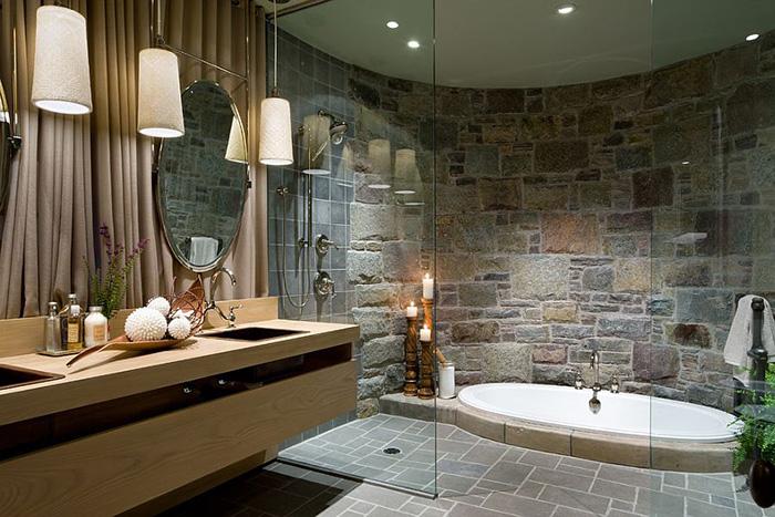 Интерьер ванной от  Lisa Stevens & Company