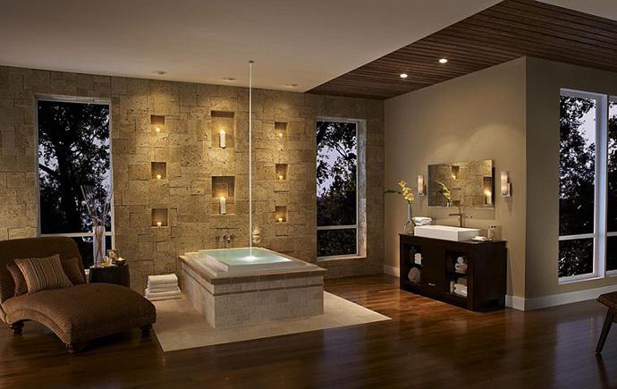 Интерьер ванной от Eldorado Stone