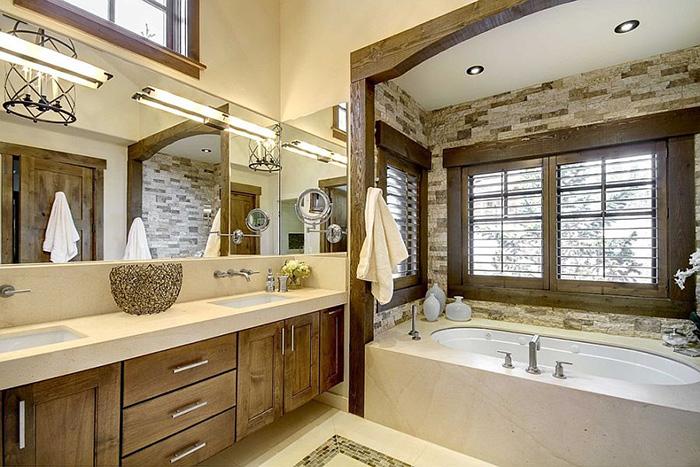Интерьер ванной от Slifer Designs