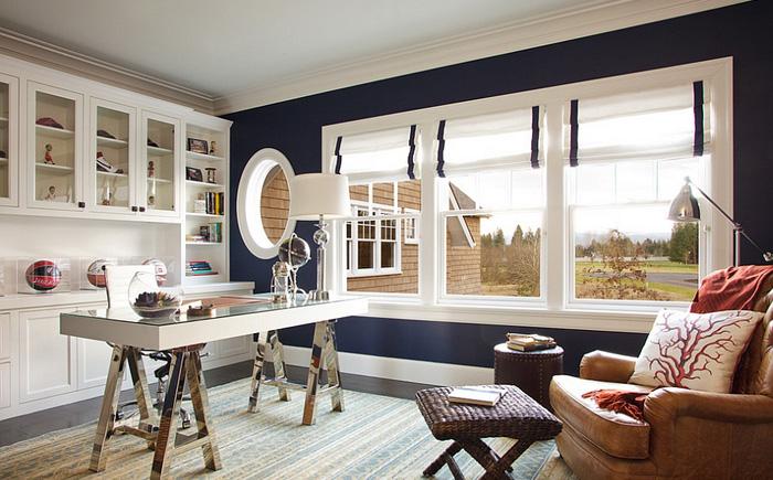 Стильный домашний офис от Garrison Hullinger Interior Design