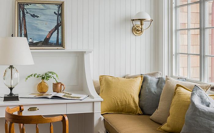 Уютный уголок для отдыха в домашнем офисе