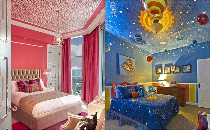 Небо, под которым хочется просыпаться - 20 потрясающих потолков для детской комнаты