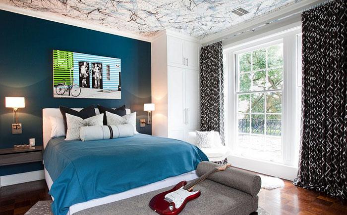 Трёхцветный потолок от Laura U