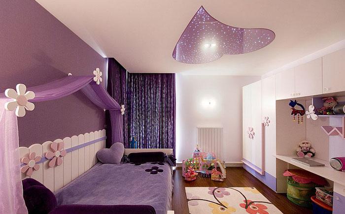 Сиреневая спальня от Koray Yavuzer