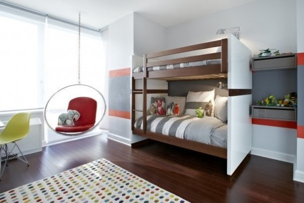 Дизайн комнаты с двухуровневой кроватью