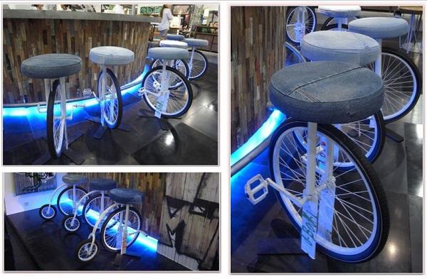 Оригинальные стулья на колёсах