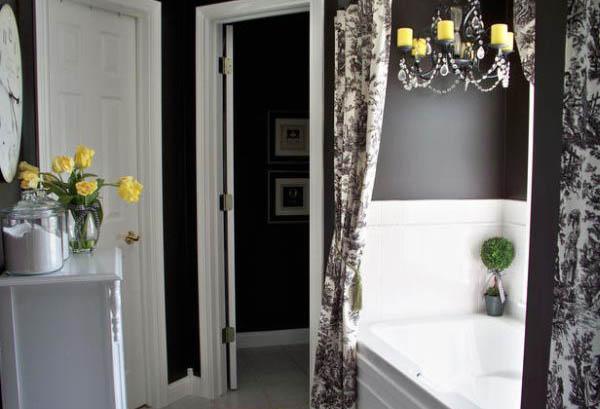 Чёрный цвет в интерьере ванной комнаты