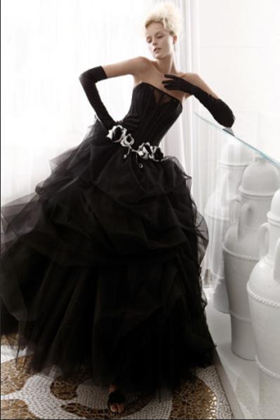 Вера Вонг предлагает чёрные свадебные платья