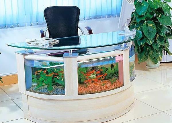 Работать за столом с аквариумом будет сложно