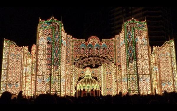 Рождественские огни в Кобе