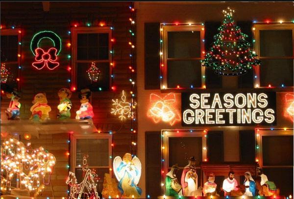 Рождественские огни в Балтиморе