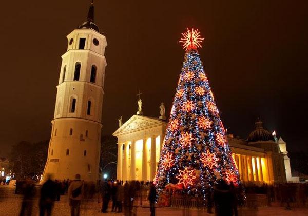 Рождественские огни в Вильнюсе