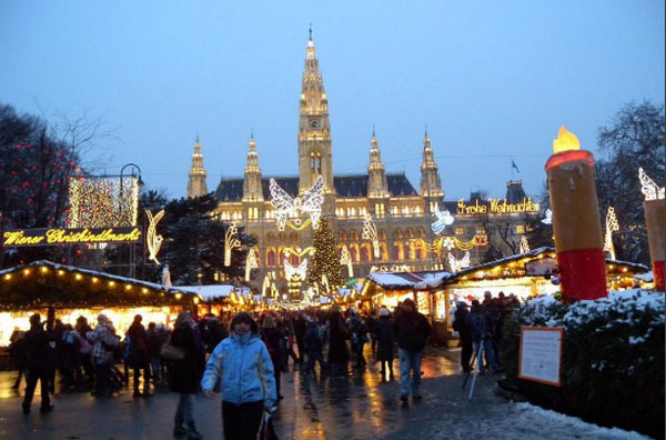 Рождественские огни в Вене