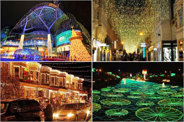 ТОП-10 городов с самыми невероятными рождественскими иллюминациями