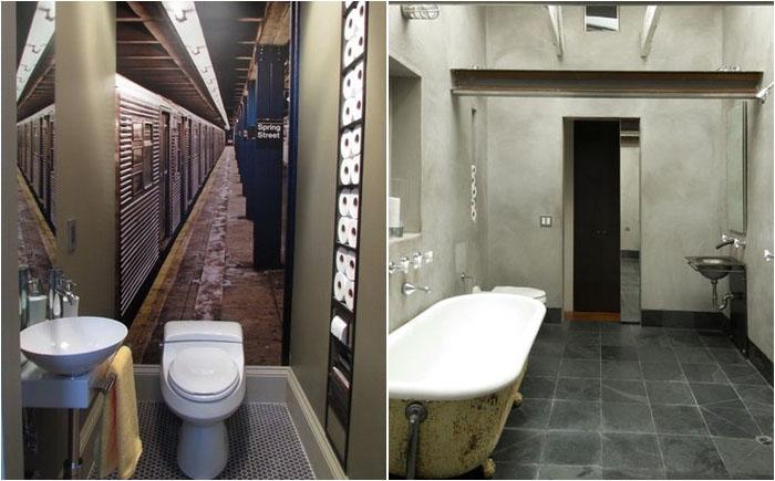 Встроенные полки для хранения туалетной бумаги