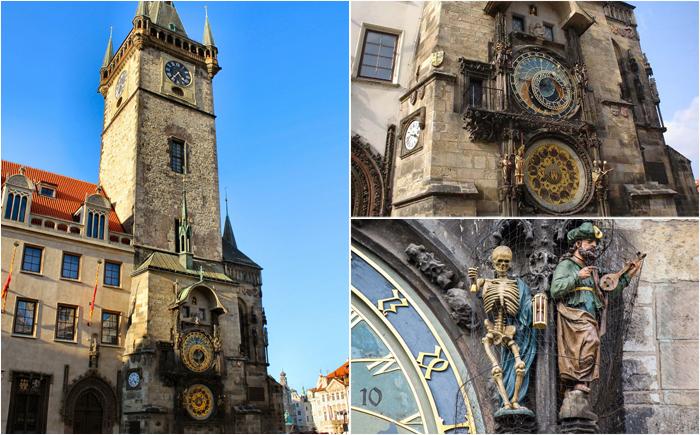Астрономические часы на башне в Праге