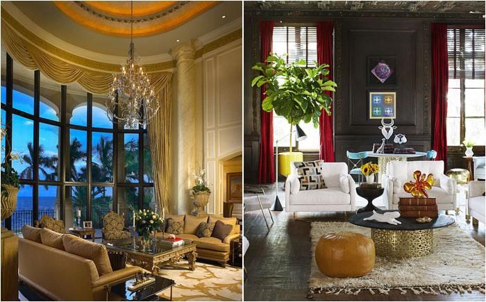 Золотая лихорадка в интерьере: 30 роскошных кофейных столиков для современной гостиной