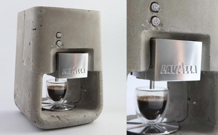 Espresso Solo: бетонная кофеварка