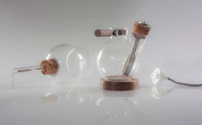 Паровая кофеварка - стеклянный шар