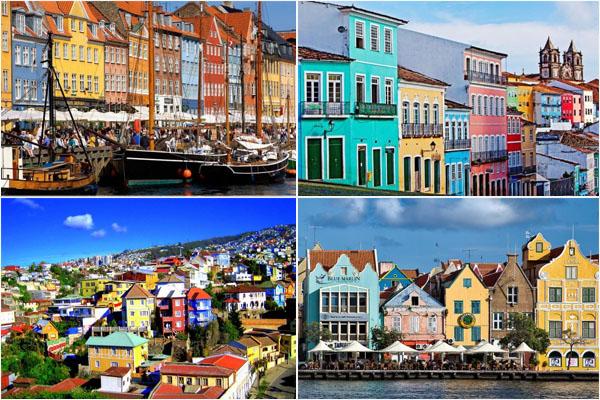 Невероятная игра красок: самые яркие города в мире