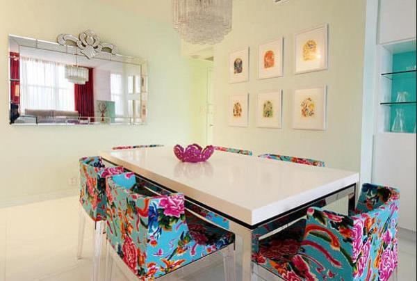 Разноцветная столовая