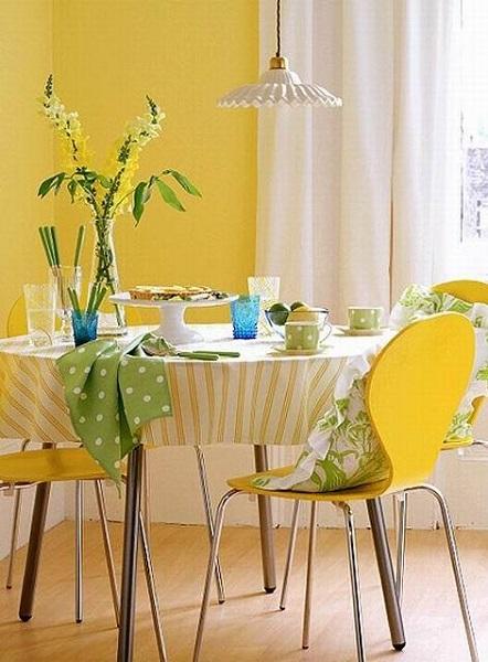Ярко-жёлтые стены
