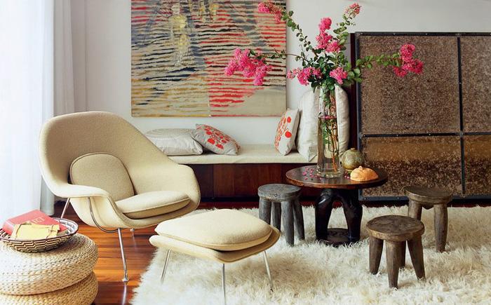 Уютная зона отдыха в гостиной