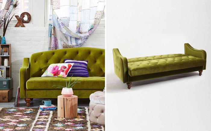 Яркий диван - удобная кровать
