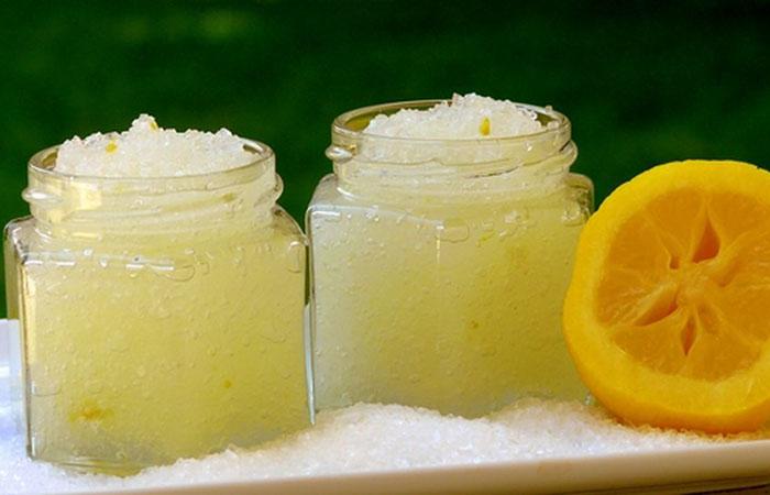 Скраб для тела на основе соли и лимона