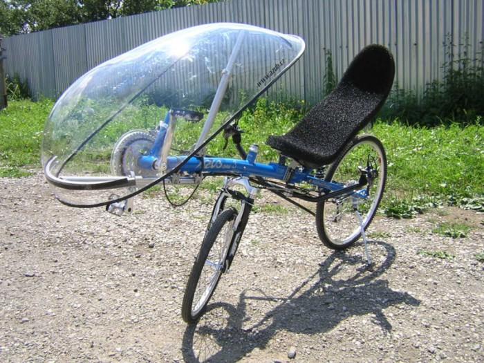 Велосипед с лобовым стеклом
