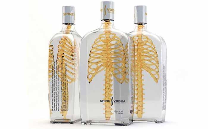 Упаковка водки Spine