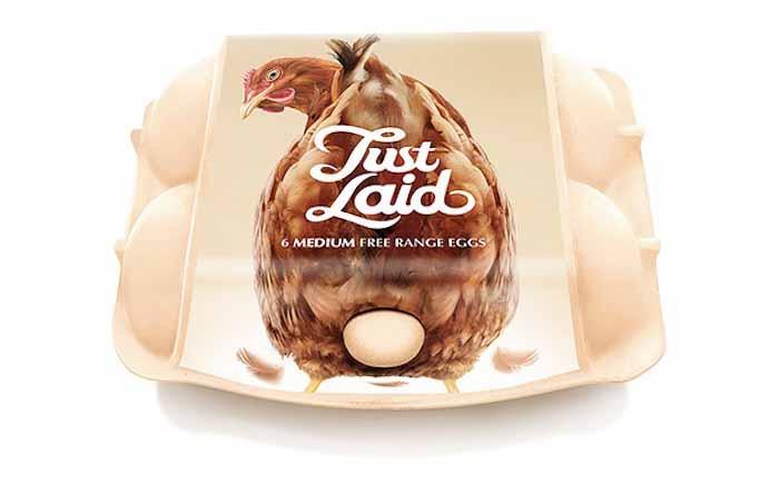 Упаковка яиц только что снесённых