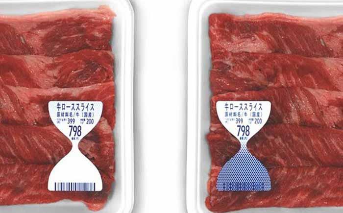Упаковка для мяса с индикатором срока годности