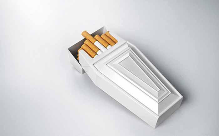 Упаковка для сигарет с тонким намёком