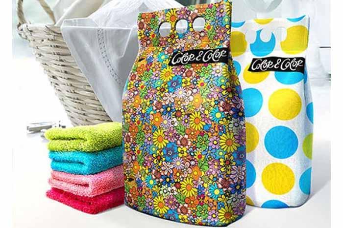 Упаковка порошка для стирки цветного белья