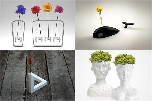 15 самых необычных и креативних ваз для цветов