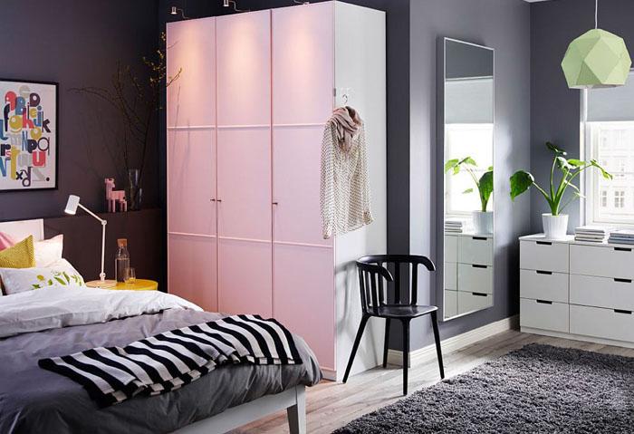 Шкаф PAX в спальне