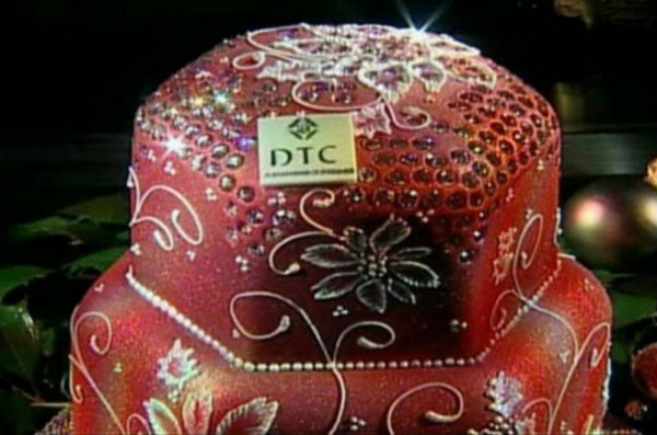 Рождественский пирог с бриллиантами