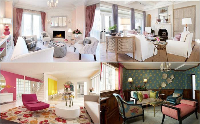 Тонкости дизайна модных гостиных комнат в женском стиле