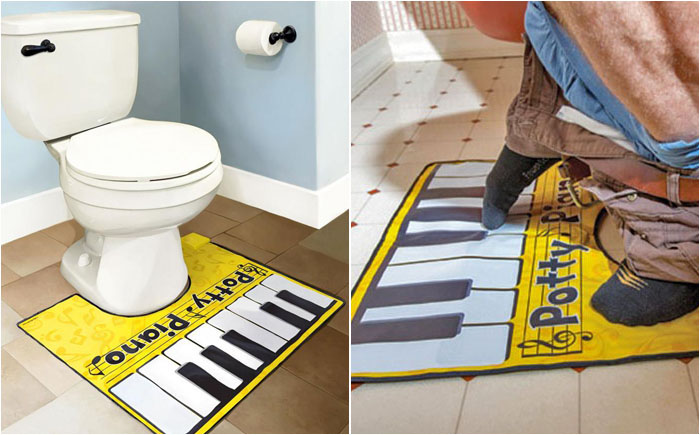 Музичний килимок для туалету