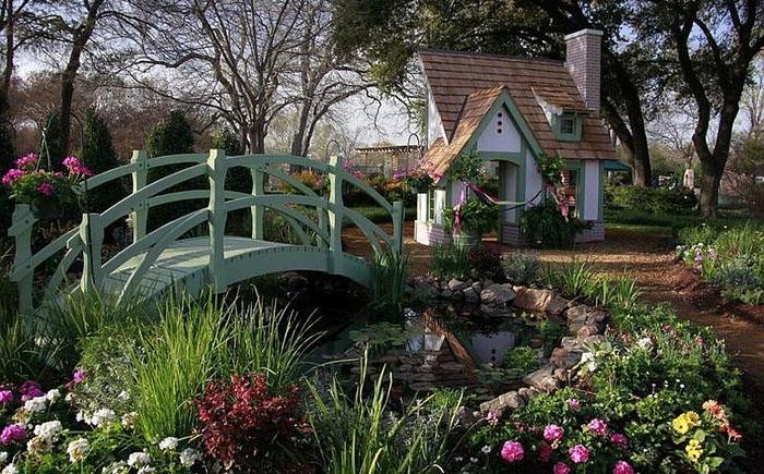 Садовый ландшафт: 25 поразительных идей для строительства мостиков
