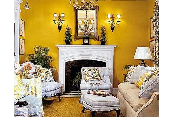желтая гостиная фото